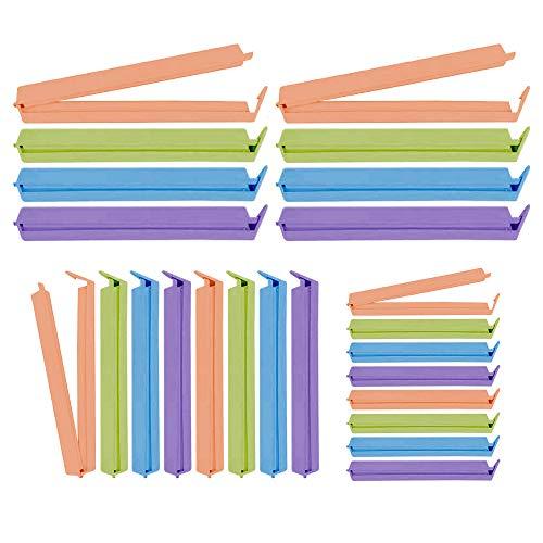 Speyang Clip per Sacchetti per Alimenti, Clip di Tenuta Plastica, Clip Sacchetti Cucina, Clip per Chiudere Sacchetti, Alimentari Tenuta Clip, 24 Pezzi, 3 Misure, 3 Colori.