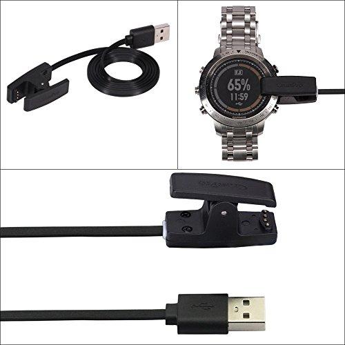 CrustPro Cargador USB de datos y cable de carga para reloj deportivo Garmin Fenix Chronos GPS