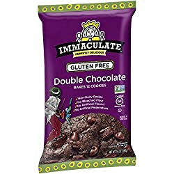 Immaculate Baking Double Chocolate Cookie Dough, Gluten Free Cookies, Non-GMO, Bakes 12 Cookies, 14