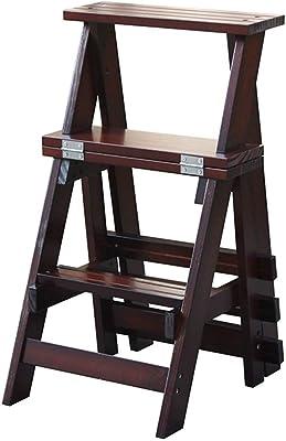 Zapatero XWYXJ Taburete plegable de 3 escalones Escalera de madera-Silla de escalera interior for el hogar Taburete de escalada de doble uso, Escaleras de cocina Taburetes pequeños for adultos, Niños,: Amazon.es: Hogar