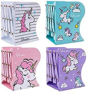 Kaushiki Enterprises Unicorn Metal Book Shelf / Expandable Book Rack / Adjustable Bookend Stand Holder / Book Organizer fo...