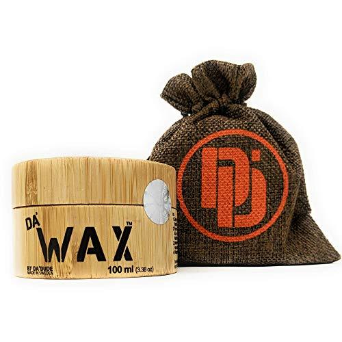 DA Dude Da Wax,Starker Halt Haarwachs matt Männer in einer einzigartigen Holzwanne und Geschenkbeutel 100ml