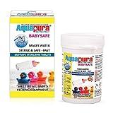Aquapura Babysafe, Baby Bottle and Feeding Equipment Sterilising Tablets, 64 Tablets (32 Days Supply), Cold Sterilization Method, Safe & Environmental Friendly