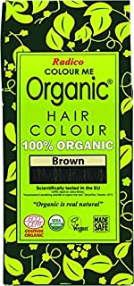 Radico Color Me Organic 100% Natural Herbs Long Lasting Brown Hair Color 100g / 3.53 Oz. by Radico