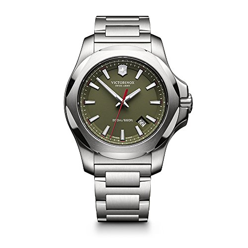 Victorinox Swiss Army Men's 241725.1 I.N.O.X. Watch with Green Dial and Stainless Steel Bracelet