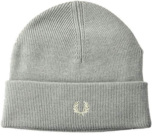 Fred Perry Unisex-Erwachsene Merino Wool Beanie Hut für kaltes Wetter, Stahlmarl, Einheitsgröße