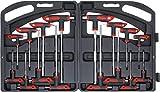 Kraftmann 90 | Juego de destornilladores con empuñadura en T | hexágono interior | perfil en T...