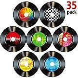 35 Stück 7 Zoll 1950er Jahre Rock'n'Roll Musik Party Dekorationen Rekord Bunte Ausschnitte Wand...
