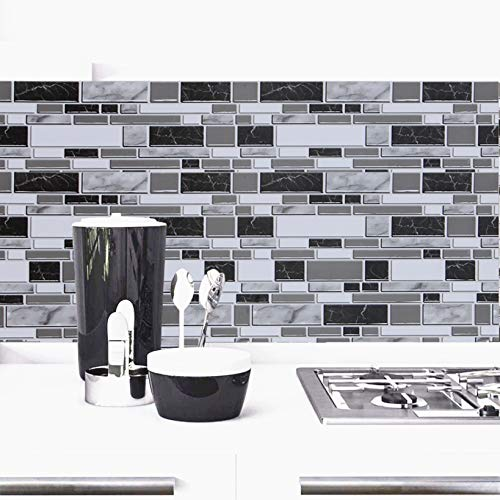 HOMD 60cm x 300cm Marble Contact Paper White Grey//Granite Self Adhesive Vinyl Film Sticky Back Plastic Roll Marble Vinyl Countertop Peel and Stick Marble Wallpaper Decorative Furniture Sticker