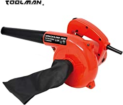 Toolman Lion Tools DB2506 Corded Electric Compact Leaf Blower Sweeper Vacuum Cleaner 5.0A 6 Speed 13000RPM Works with DeWalt Makita Ryobi Bosch Skill Accessories