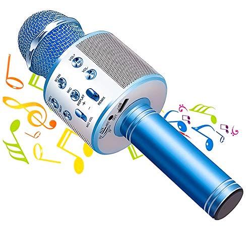 Phiraggit Microfono Karaoke Bluetooth, Wireless Microfono con Altoparlante, Bluetooth Karaoke Player, Portatile Karaoke per Cantare, Home KTV, Compatibile con Android/iOS,PC o smartphone