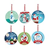 FeiFei66 2020 Christmas Ornaments Wooden Hanging Decoration Gift Personalized Family Santa...
