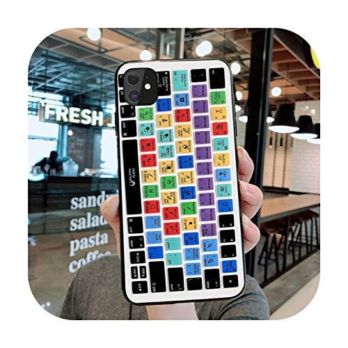 Funda blanda de TPU para iPhone 11 Pro XS MAX 8, 7 6 6S Plus X 5S SE 2020 XR Case a12-For 6Plus 6SPlus