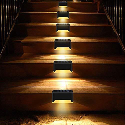 Luces solares de cubierta, luces de paso solares, luces solares impermeables para exteriores, utilizadas para pasos, vallas, cubiertas, barandillas y escaleras, blanco cálido