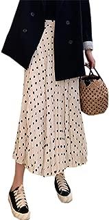 Ameyda Women Maternity Polka Dots Print Midi Skirt