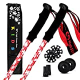 Kid's Trekking Poles – Collapsible Telescopic Walking Sticks for Children – Brightly Colored