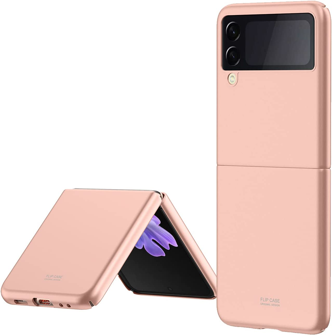 Case for Galaxy Z Flip 3, Heavy Duty Protection Shockproof PC Outer Cases with Reinforced Corners Anti-Scratch, Compatible with Samsung Galaxy Z Flip 3 (Golden)