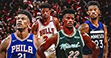 MasonArts Jimmy Butler 27inch x 14inch Silk Poster Dunk and Shot Wallpaper Wall Decor Silk Prints for Home and Store