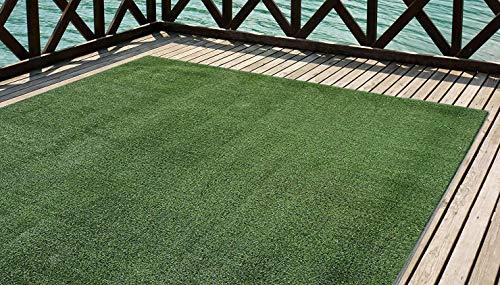 Cesped artificial Premium. Altura de 7mm. Rollos de 1x5 metros Para terraza, jardín, valla, piscina, perro etc (1x5)