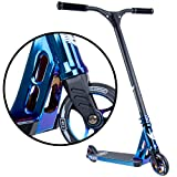 Sector Pro Kick Trick Stunt Scooter - For Intermediate/Advanced - Premium Colors - Quality Freestyle Complete for Affordable Price - Durable, Light, Easy Setup - For Boys Girls Teens (Blue Neochrome)