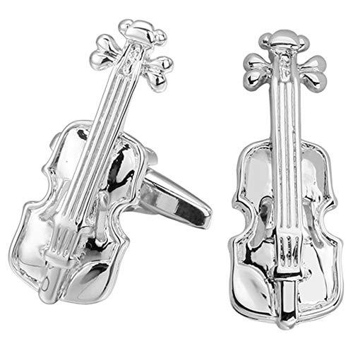 Geek & Glitter Manschettenknöpfe Musikinstrument – 6 Verschiedene Designs zur Auswahl – Gitarre, Trompete, Tastatur, Violine, Saxophon, Schlagzeug
