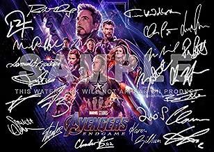 Avengers Endgame Print RDJ, Stan Lee, Chris Pratt, Tom Hiddleston, Chris Hemsworth, Chris Evans, Black Panther, Spiderman, Captain America, Iron Man. (11.7