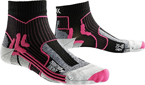 X-Socks Damen Strumpf MARATHON ENERGY LADY, Black/Fuchsia, 41/42, X100095