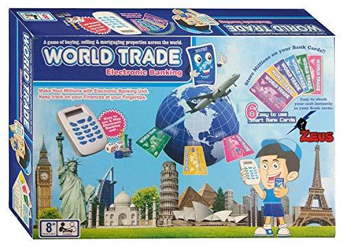ARADHYA World Trade Electronic Banking with Swipe Machine, Cashless Business Property Trading Game, Buying Selling Mortgaging, Gift Item