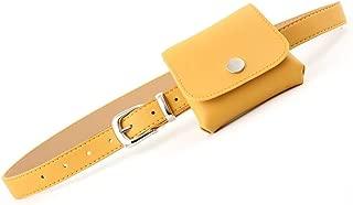 SGJFZD New Ladies Tide Belts Drum Pockets Belts Soft Dress Shirts Decorative Fashionable Belt Bag Creative Models (Color : Yellow, Size : 105 * 2.4cm)