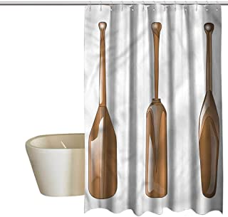 Denruny Shower Curtains for Bathroom Tropical Oar,Canoe Paddle Several Shapes,W72 x L72,Shower Curtain for Shower stall