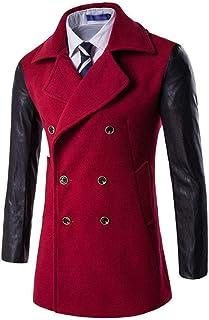 Giacca Invernale da Uomo per Il Tempo Libero Ntel Abbigliamento Manica Vintage Lunga da Uomo Bavero Slim Fit Lungo A Doppi...