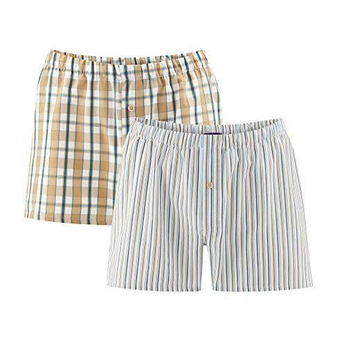 Living Crafts Boxer-Shorts, 2er-Pack XL, Timber/Atlantic