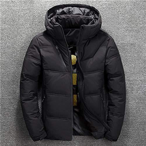 ZYJANO Doudoune,Parkas Jacket Men Winter Down Coat Men's Thick Warm Snow Parka Jacket Overcoat Windbreaker Hooded Warm Parkas, Black, XL