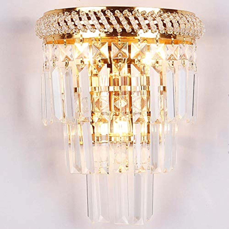 LAZ Kristall Wandlampen, Vintage E14 Innenleuchten Leuchten Moderne Nachttischlampe Wandleuchte , für Wohnzimmer Schlafzimmer Flur und Schrank