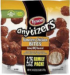 Tyson Any'tizers Honey BBQ Boneless Chicken Bites Family Pack Frozen, 44 Ounce