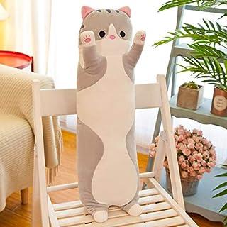 Grote nieuwe 50-150cm lange kat kussen kussen kamer decoratie slapen kussen kat pop knuffel 150 cm grijs