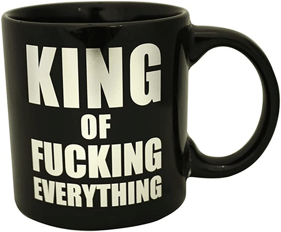 King Of Fucking Everything Giant Mug Black