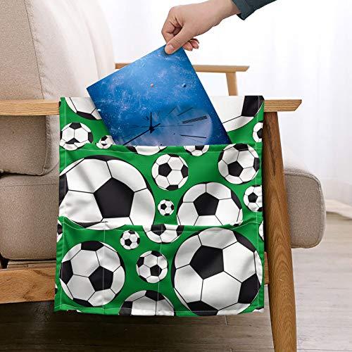 Pizding - Organizador de reposabrazos para sofá con 5 bolsillos con mando a distancia para el teléfono celular, soporte para revistas, eventos deportivos, accesorios decorativos