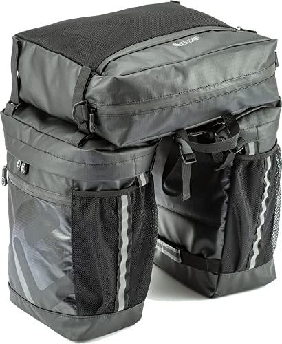 Sternzelt Cykelväska för pakethållare – 100 % vattentät – 2 i 1–50 l