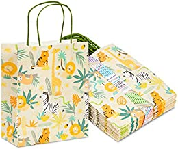 Small Jungle Party Favor Bags for Kids Safari Birthday Decorations (24 Pack)