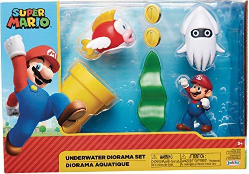 Super Mario Bros. Nintendo Underwater Playset $14.40, Super Mario Bros. Nintendo Cloud World Playset $16 + FS w/ Amazon Prime or FS on $25+