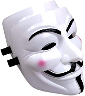 Mimgo-shop V for Vendetta Mask Scary Halloween Mask for Adult Men Simple Anonyumous Costume Cosplay for Party Carnival and...