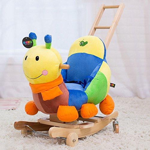Cheval à bascule à double usage Rocking berceaux chaise à bascule en bois massif pour 1-3 ans bébé enfant jouet cadeau insectes -LI JING SHOP