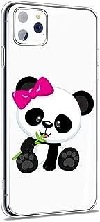 iPhone 11 Pro Max Soft TPU Clear Case Clear Panda Pattern Design Soft & Flexible TPU Ultra-Thin Shockproof Transparent Panda Cover, Cute Pandas iPhone 11 Pro Max Case (4)