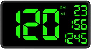 oil-LIKIO C1090 Universal GPS HUD Speedometer Head Up Display Car with Over Speed Alarm Drive Safer 50x80x18mm