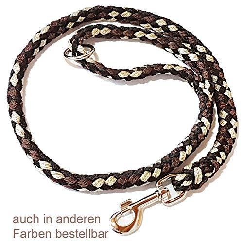 Activity4Dogs Geflochtene Hundeleine 1m kurz für mittelgroße und große Hunde rund Durchmesser 15mm Führleine Übungsleine Made IN Germany