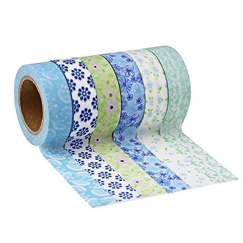 Tape Nastri Adesivi Decorativi, Confezione da 6 (Colore Set 7)