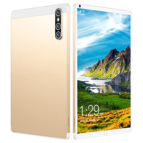 GAOwi Tableta Barata de 8 Pulgadas Bluetooth 4G Red Android 12 + 512GB 16 + 32MP Android 11.0 8800mAh,Oro