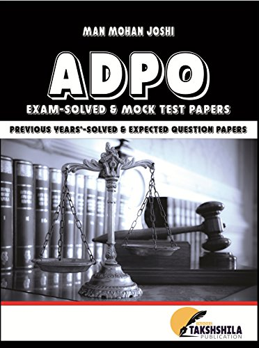 ADPO: Solved Papers and Mock Test Papers