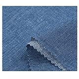 Tela de mezclilla de algodón Tela de mezclilla lavada Ropa Camisa Pantalones Delantal Ropa de bricolaje Tela...